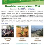 ESSP Newsletter January – March 2016