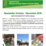 ESSP Newsletter October – December 2016