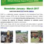 ESSP Newsletter January – March 2017