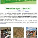 ESSP Newsletter April – June 2017