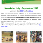 ESSP Newsletter July – September 2017