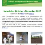ESSP Newsletter October – December 2017