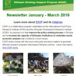 ESSP Newsletter January – March 2018